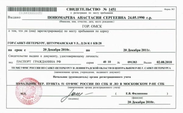 Разница между постоянной и временной регистрацией в чем отличия